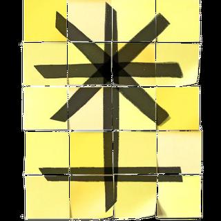 所有找到的便签纸拼出的代表朱诺的标志
