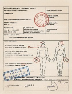 ACO Alan Rikkin - Autopsy Report from the Coroner's Office