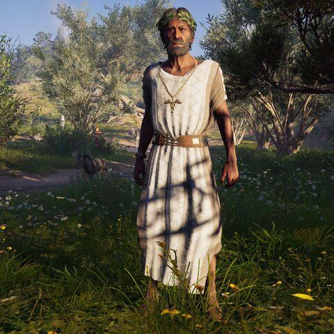 提摩克塞诺斯站在树荫下
