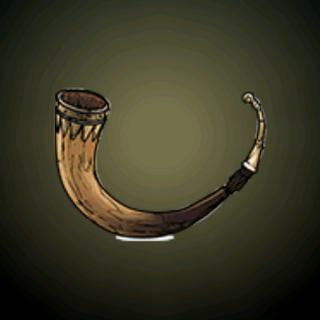 饮酒角杯 - 很常见的维京配饰,由山羊或牛只的角制作而成