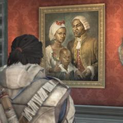 康納觀看阿基里斯家庭的油畫
