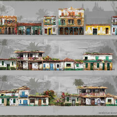Various types of buildings