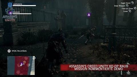 Assassin's Creed Unity Ko-op Raub Mission Kommentierte Demo DE