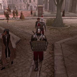 Ezio avec la tenue de Luigi dans Rome