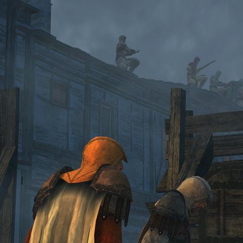 Several Assassins defending a Den