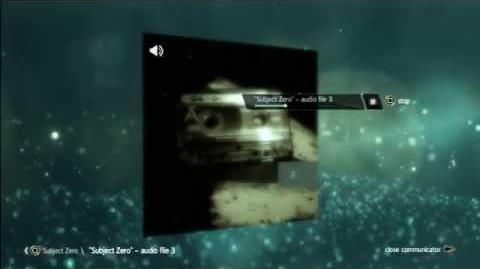 "AE files:""Subject Zero"" - audio file 3"