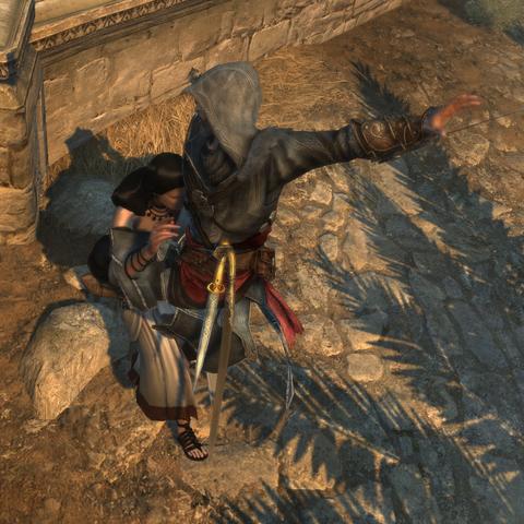 Ezio assassinating Lysistrata