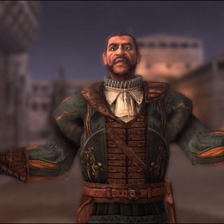 Bartolomeo accueillant Ezio dans ses baraquements