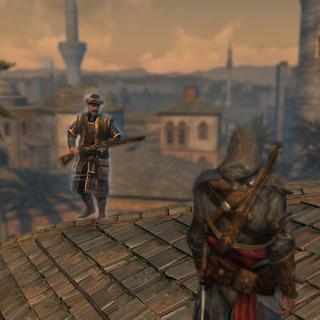 埃齐奥面对一名奥斯曼火绳枪兵