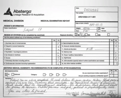 Abstergo's Preliminary Medical Report
