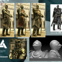 The Crusader's model and artwork