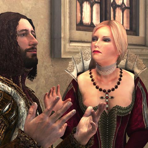 皮埃特罗和卢克雷齐娅在圣天使城堡中