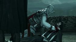 אציו צועק על גופתו של ויירי