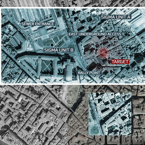 Satellite imagery showing the Templars' plan of action