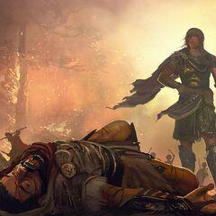 卡珊德拉在皮洛斯战役中对战德谟斯的原设图