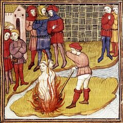 一张关于雅克·德·莫莱处刑的缩写画