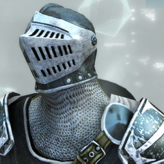 The Crusader's helmets