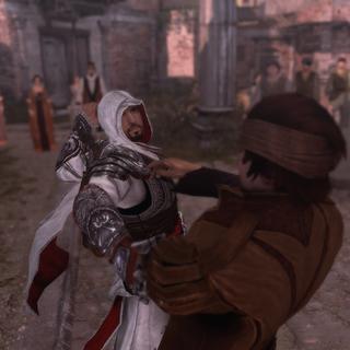 Ezio vermoordt Lanz.