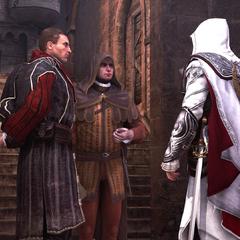 尼可罗、沃尔佩和埃齐奥谈论叛徒