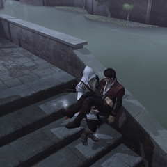 埃齐奥抱着费代里科的尸体
