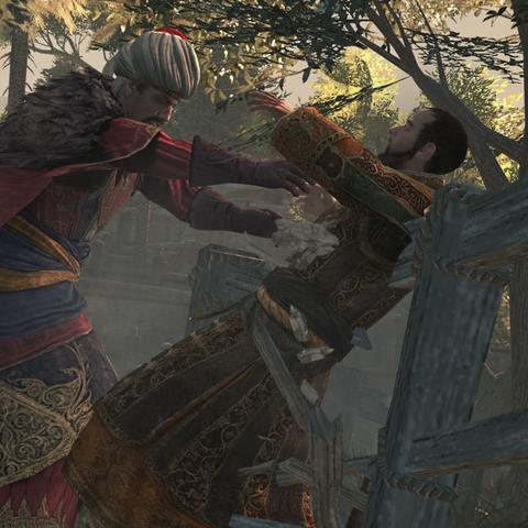 <b>Selim</b> poussant Ahmet dans le vide