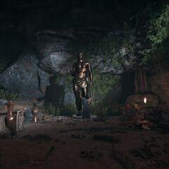 卓嘎拉堤洞窟中的赫尔墨斯像