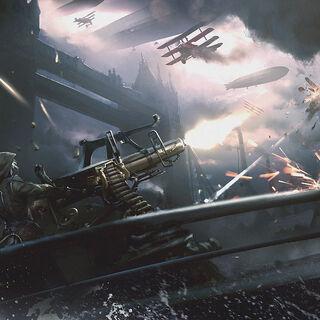 莉迪娅·弗莱操控着一座防空机炮