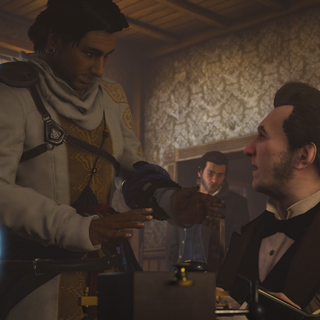 亨利与贝尔交谈