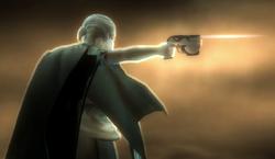 Jupiter firing blaster pistol