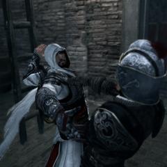 Ezio vermoordt de snelle wachter.