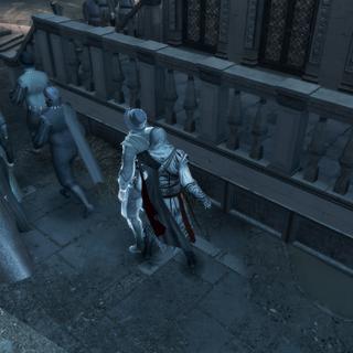 Ezio empoisonnant le deuxième administrateur