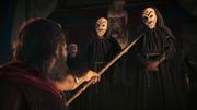ACOD Bully the Bullies - Leonidas threatening a Cultist