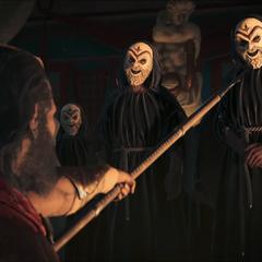 列奥尼达斯威胁一位神教成员