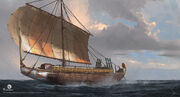 ACO Cleopatra Boat Concept Art - Martin Deschambault