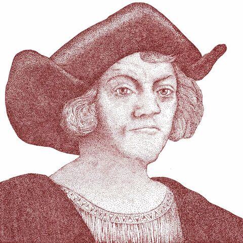 克里斯托弗·哥倫布的一幅畫像