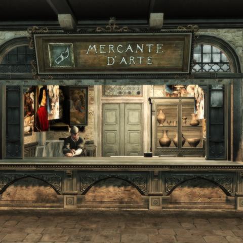 Le marchand d'art de Monteriggioni.