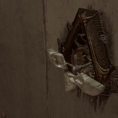 Ezio opent de geheime doorgang.