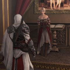 卢克雷齐娅与埃齐奥交谈