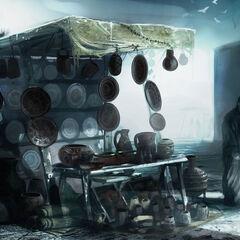 耶路撒冷摊贩的概念艺术画