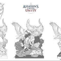 Représentation animalière symbolique de la guerre entre Assassins et Templiers