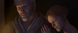 Ezio Sofia osservano figli dormire