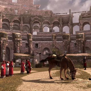 Les cardinaux se réunissant avec Cesare