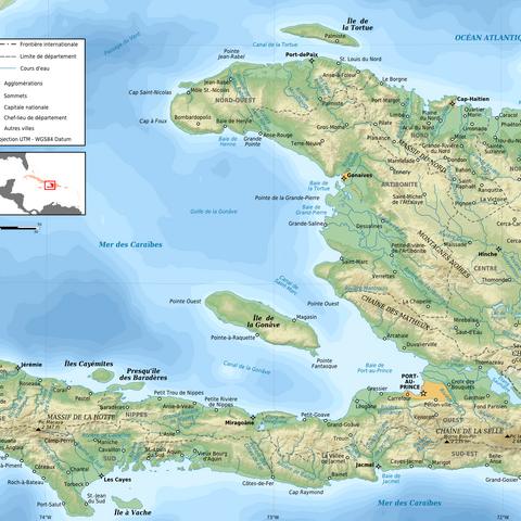 Topographie d'<b>Haïti</b>