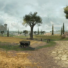 Panoramisch uitzicht op Monteriggioni.