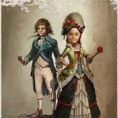 Arno et <b>Élise</b> enfants, lors de leur premiere rencontre au <a href=