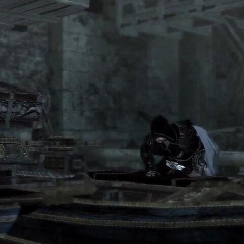 Ezio sur la <b>machine</b>
