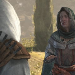Elder Altaïr and Maria in Masyaf