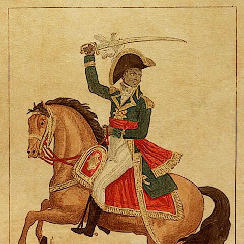 一副1802年卢维杜尔的法国版画