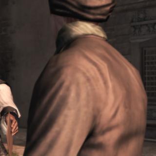 Ezio geeft de brief aan de dief.