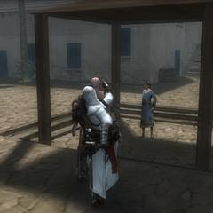 阿泰尔刺杀一名沙利姆的卫兵